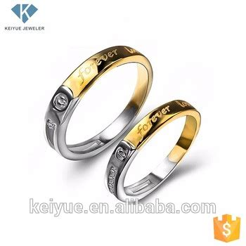 gold silver custom engraved rings sets with letter design for engagement tanishq buy
