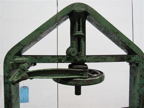 weaver mfg  ton  speed arbor lever press  daylight