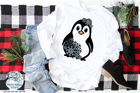 Iron on each layer separately because each layer has a plastic carrier backing. Snowflake Penguin SVG | Winter Penguin Layered SVG Cut File