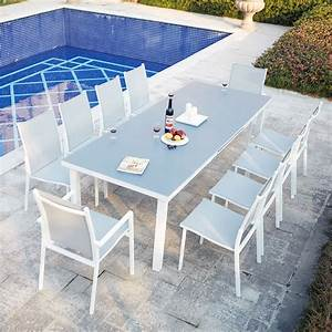 Table De Jardin Extensible : ensemble table de jardin extensible en aluminium moniga 10 ~ Dailycaller-alerts.com Idées de Décoration