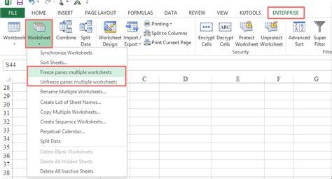 How To Lock Or Freeze Worksheet Tab In Excel?