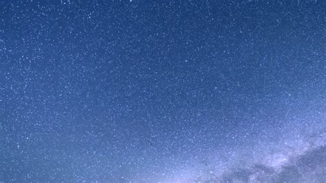 Milky Way Time Lapse Blue Sky Star Ring Rotation