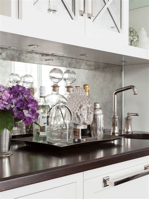 kitchen mirror backsplash antique mirrored backsplash design ideas