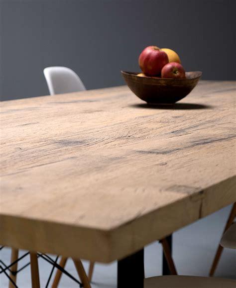 table cuisine chene ostende table sur mesure plateau en plancher de fonds de wagon en chêne massif légèrement