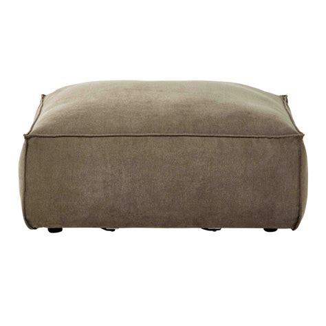 pouf canapé pouf de canapé modulable en tissu taupe chiné rubens
