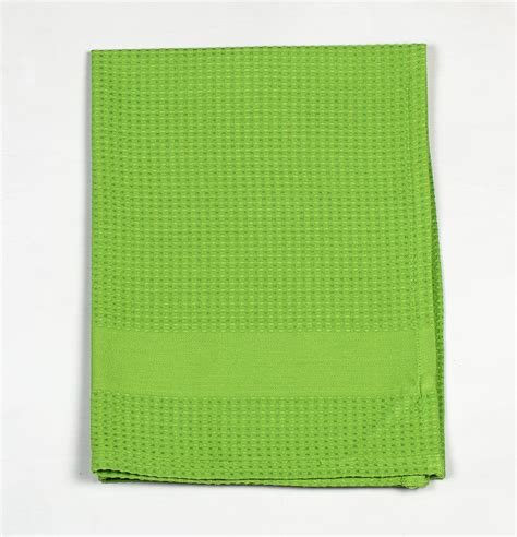 Kitchen Towel by Honeycomb Cotton Kitchen Towel Parrot Green Thoppia
