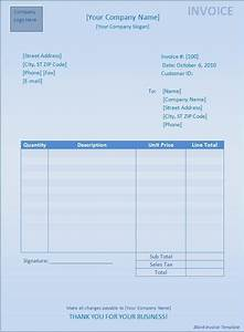 simple invoice blank template free invoice With simple blank invoice