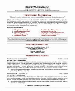 electrician resume template 5free word excel pdf With electrician resume template