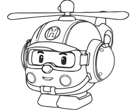 Kleurplaat Poli by Robocar Poli Coloring Pages For Coloringpageforkids