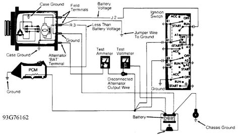 Charging System Wiring Diagram For 1998 Jeep Wrangler by Alternator Nippondenso 1993 Jeep Xj
