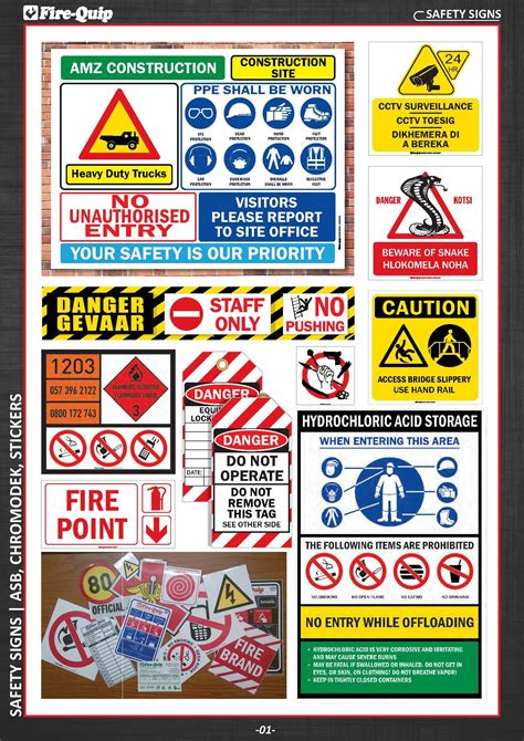 safety signs fire quip