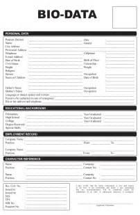 resume sle biodata form philippines application letter biodata format