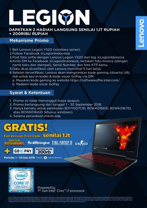 promo lenovo  pameran dilan diskon laptop nasional