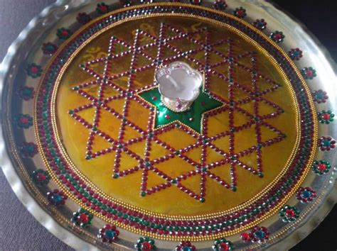 navratri aarti thali decoration ideas aarti thali