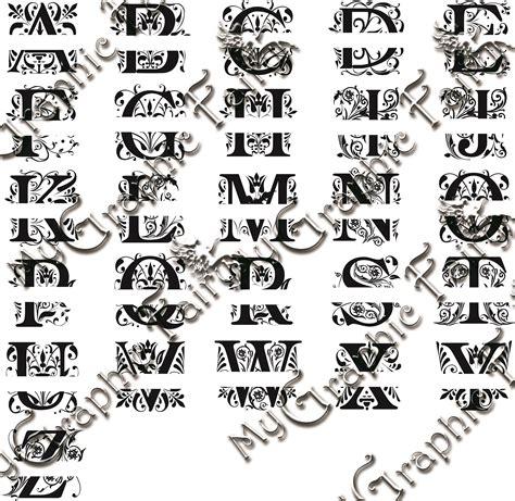 regal font split monogram svg  graphic fairy