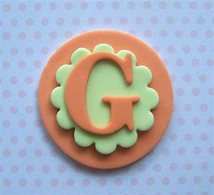fondant cupcake toppers fondant cupcakes and monogram With letter k cupcake toppers
