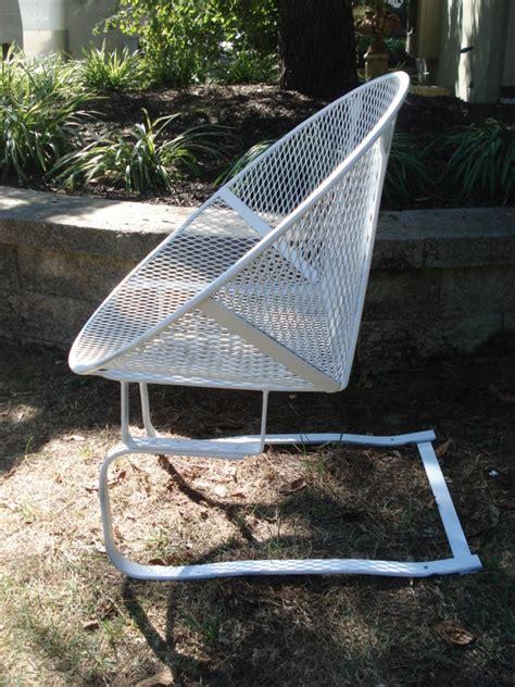 vintage round mesh salterini woodard patio chair modern ebay