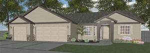 1, Story, 1, 354, Sq, Ft, 3, Bedroom, 2, Bathroom, 2, Car, Garage, Ranch, Style, Home
