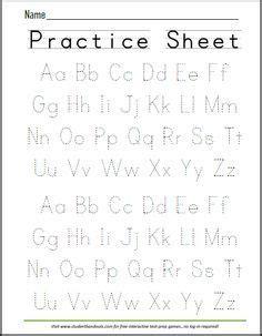 printable handwriting abc worksheet   evie