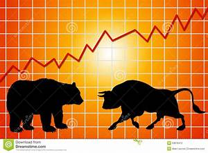 Bear And Bull Market Stock Illustration - Image: 53878412