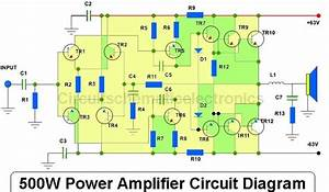 500w Power Amplifier 2sc2922  2sa1216 With Pcb Layout Design Throughout Pioneer Power Amplifier