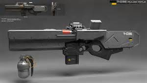 Futuristic Pulse Rifle