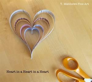 T  Matthews Fine Art  Heart Paper Chain And Heart In A