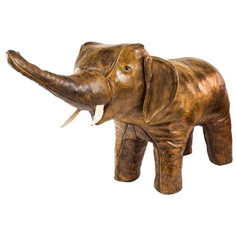 Elephant Ottoman - leather elephant ottoman abercrombie style footstool