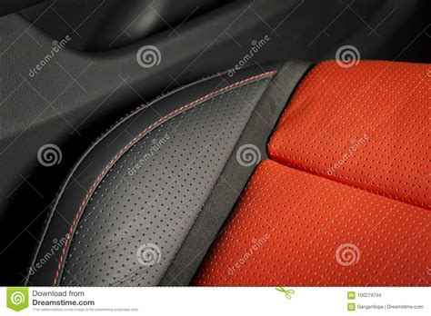 Part Of Leather Car Seat Details Stock Photo