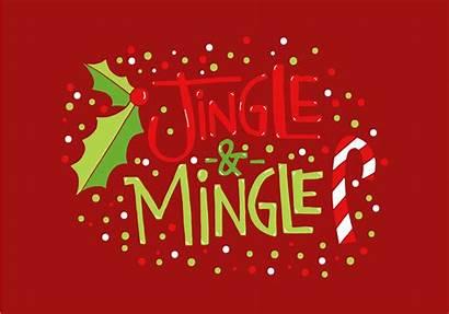 Mingle Jingle Holiday Lettering Christmas Vector Bells