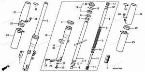 Honda Motorcycle 2009 Oem Parts Diagram For Front Fork