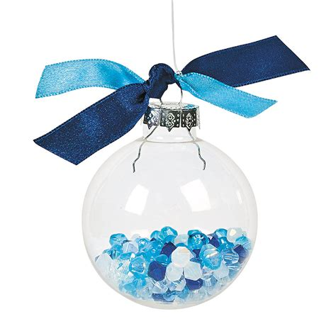 diy clear round christmas ornaments oriental trading