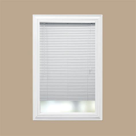 home depot mini blinds hton bay white 1 in room darkening vinyl mini blind