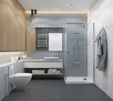 modern grey white bathrooms  relax mind body soul