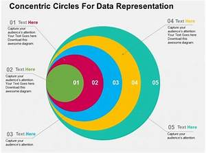 Concentric Circles For Data Representation Flat Powerpoint