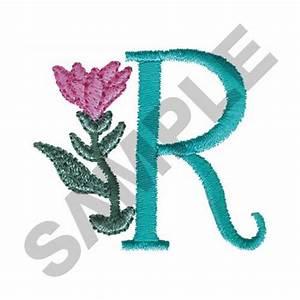 FLOWER LETTER R Embroidery Design | AnnTheGran