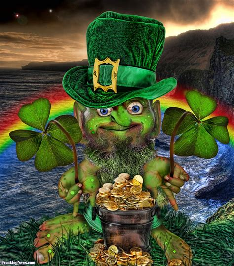 leprechaun with pot of gold pictures