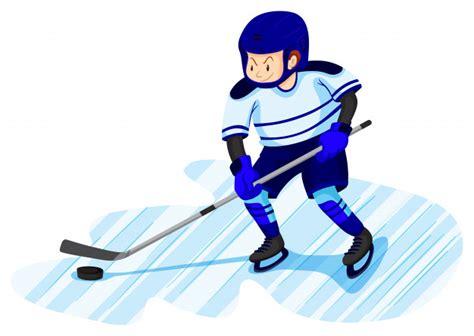 Mężczyzna Gra W Hokeja Na Lodzie   Darmowy Wektor