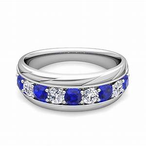 Mens Sapphire And Diamond Rings Wedding Promise