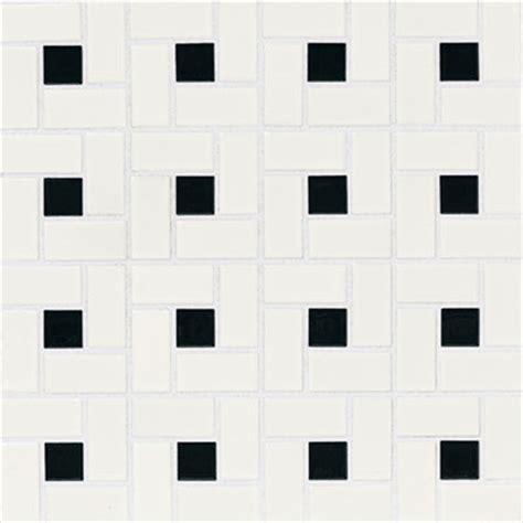 american olean chloe pinwheel mosaic gloss black