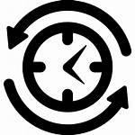 Symbol Clock Job Simbolo Klok Circle Around