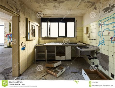 Old kitchen destroyed stock photo. Image of drawer, grungy