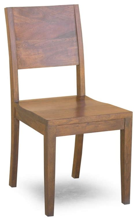simple acacia chair set of 2 modern dining chairs
