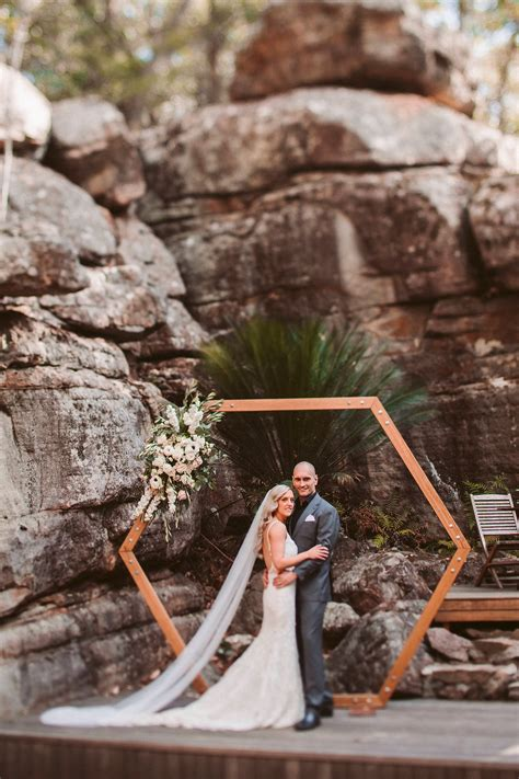 hexagon arbour  wedding event creators