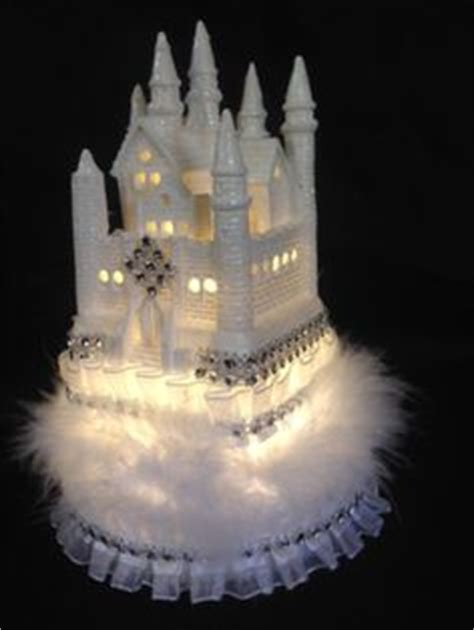 cinderella castle lighted cake topper frozen  inches tall