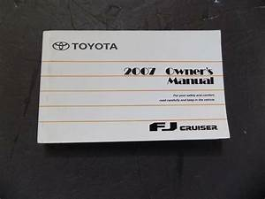 2007 Toyota Fj Cruiser Owners Manual User Guide Reference