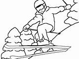 Coloring Skiing Pages Ski Jet Sport Getcolorings Printable Winter Water Freestyle Print sketch template
