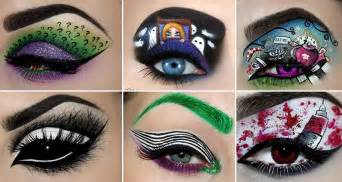 creepy eye makeup designs  perfect  halloween