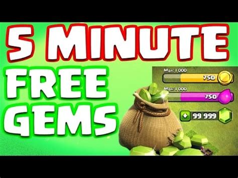 free gems clash of clans android clash of clans free gems in 5 minutes ios android