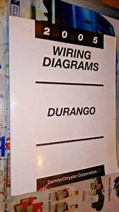 2005 Dodge Durango Wiring Diagrams Factory Manual Crisp
